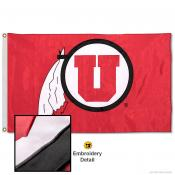 Utah Utes Appliqued Nylon Flag