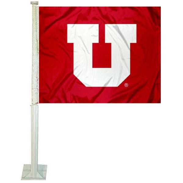 Utah Utes Big U Car Flag