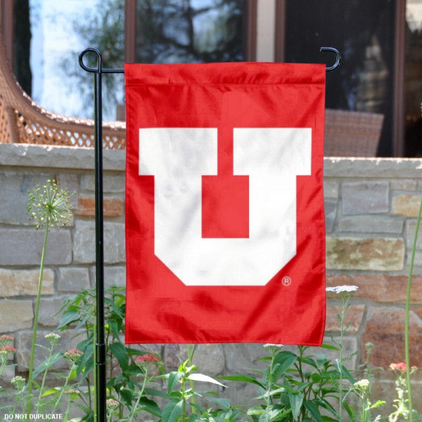 Utah Utes Big U Logo Garden Flag