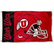 Utah Utes Football Helmet Flag