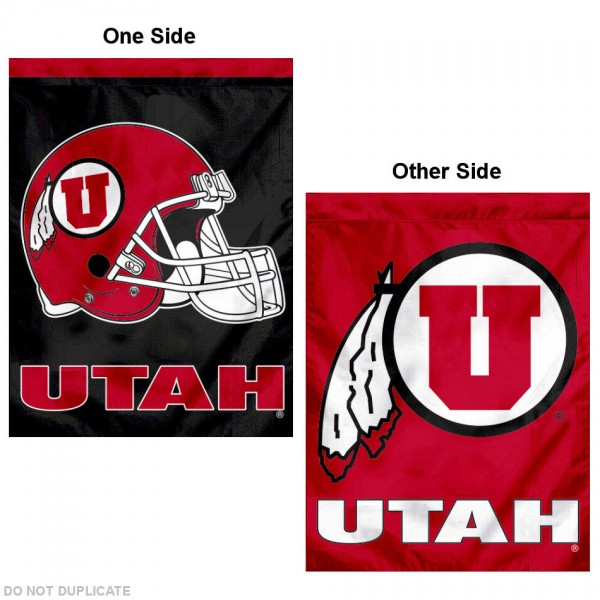 Utah Utes Football Helmet House Flag