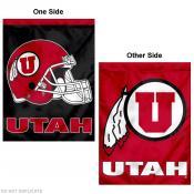 Utah Utes Football Helmet House Flag