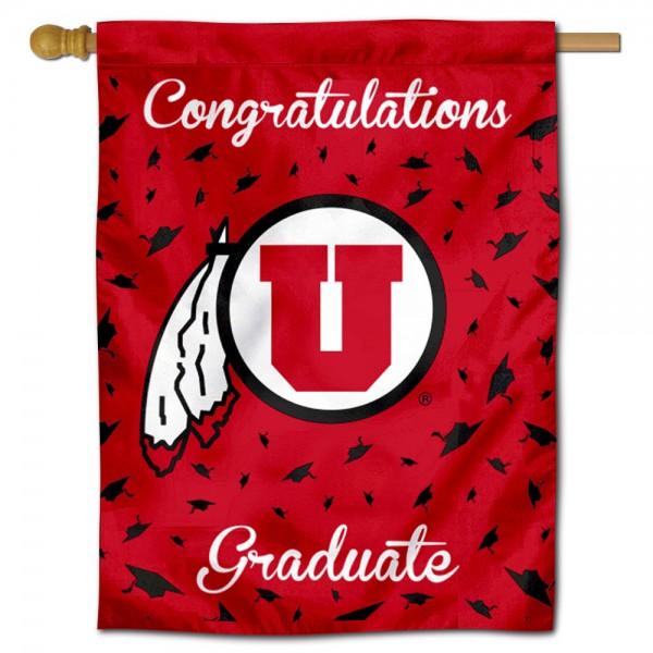 Utah Utes Graduation Banner
