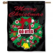 Utah Utes Holiday Flag