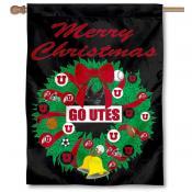 Utah Utes Holiday Flag