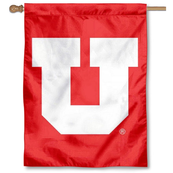 Utah Utes House Flag - Big U