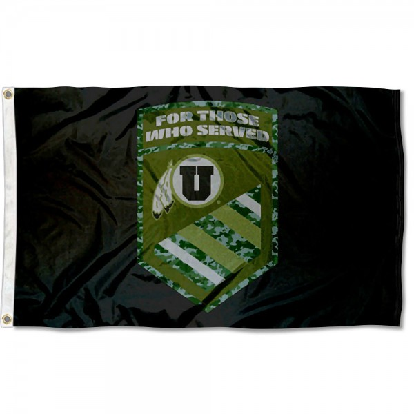 Utah Utes Military Veterans Served Flag