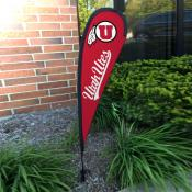 Utah Utes Mini Teardrop Garden Flag