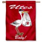 Utah Utes New Baby Banner