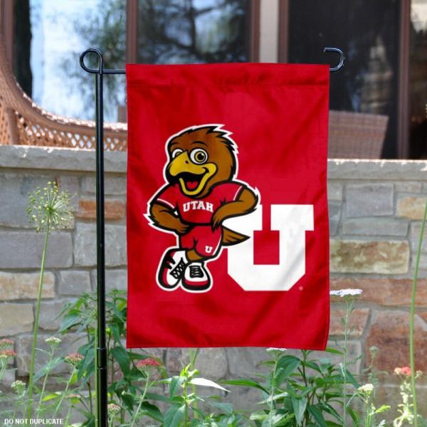 Utah Utes Swoop Garden Flag