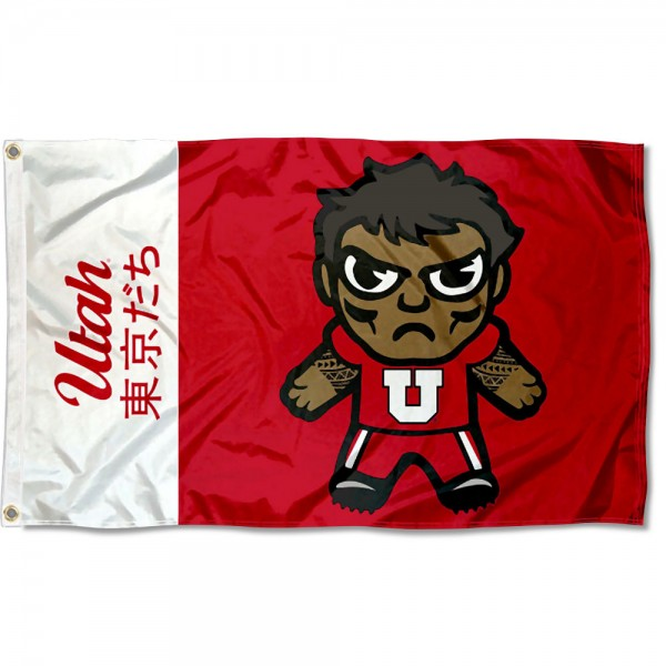 Utah Utes Tokyodachi Cartoon Mascot Flag