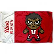 Utah Utes Tokyodachi Cartoon Mascot Flag