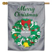 Utah Valley Wolverines Christmas Holiday House Flag