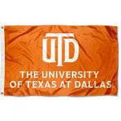 UTD Comets Orange Outdoor Flag