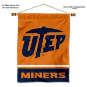 UTEP Miners Banner with Pole