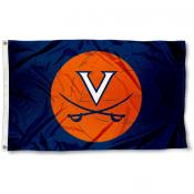 UVA Basketball Logo 3x5 Flag