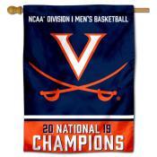 UVA Cavaliers Basketball National Champions House Flag