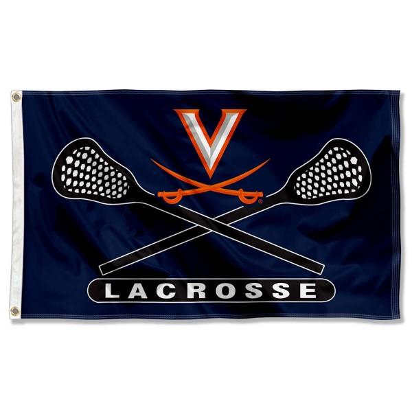 UVA Cavaliers Lacrosse Flag