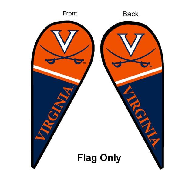 UVA Cavaliers Teardrop Flag