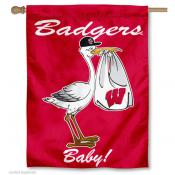 UW Badger New Baby Banner