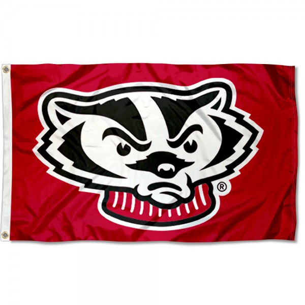 UW Badgers Bucky Head Flag