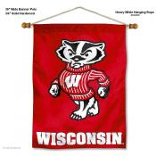 UW Badgers Bucky Wall Hanging