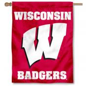 UW Badgers Double Sided House Flag