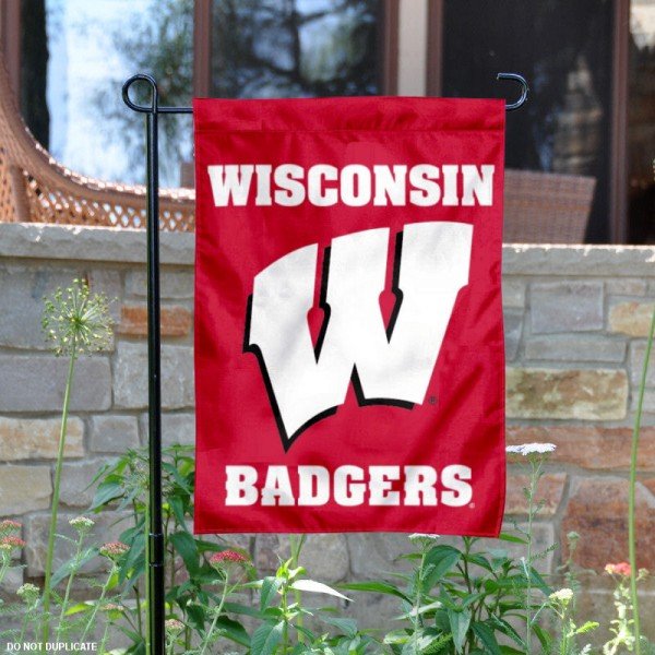 UW Badgers Garden Flag