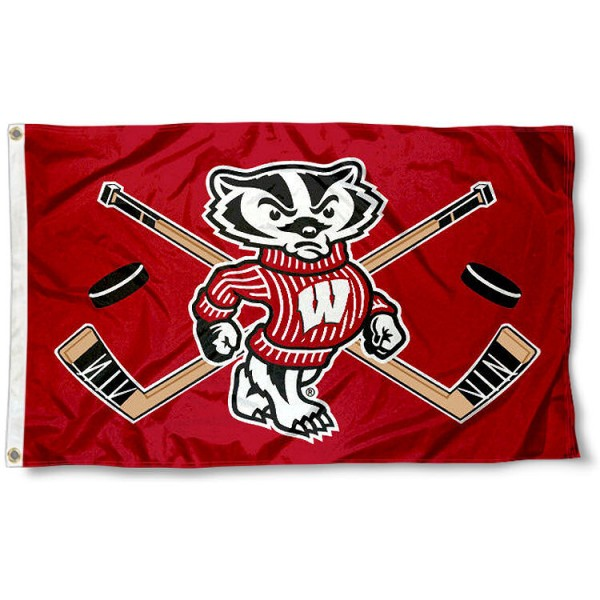 UW Badgers Hockey Flag