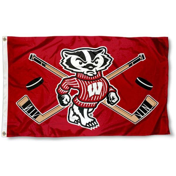 UW Badgers Hockey Flag