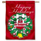 UW Badgers Holiday Flag