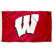 UW Badgers Large Flag