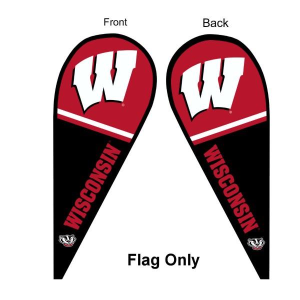 UW Badgers Teardrop Flag