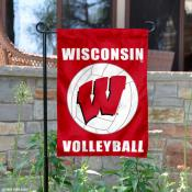 UW Badgers Volleyball Garden Flag