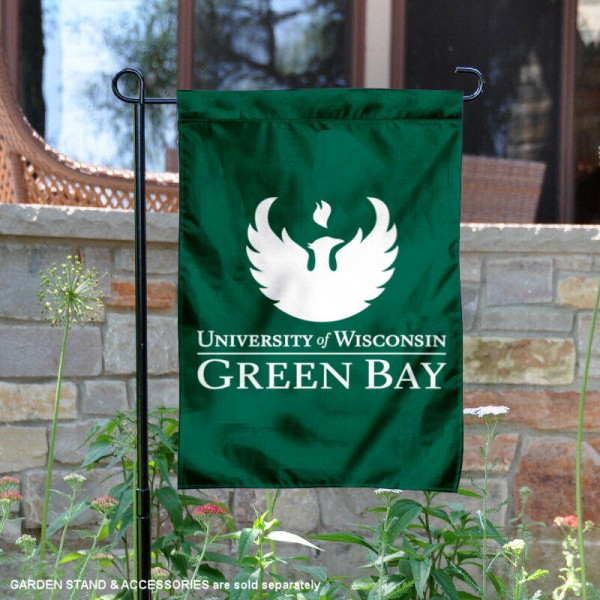 UW Green Bay Phoenix Garden Flag