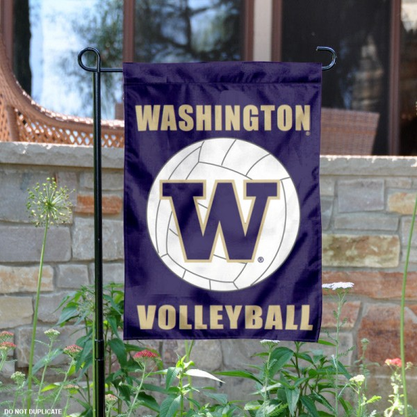 UW Huskies Volleyball Garden Flag