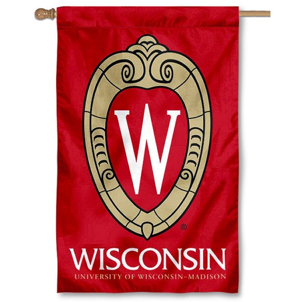 UW Madison Crest Logo House Flag