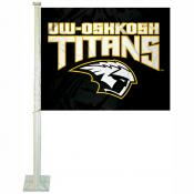 UW Oshkosh Titans Logo Car Flag