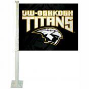 UW Oshkosh Titans Logo Car Flag