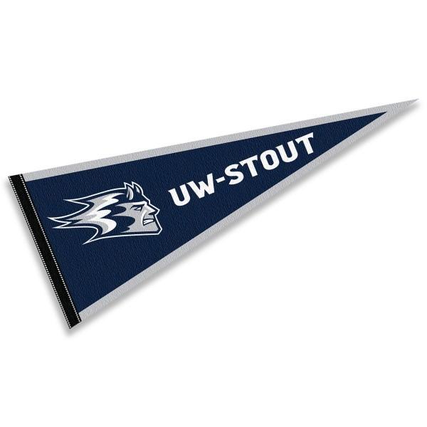 UW Stout Blue Devils Pennant