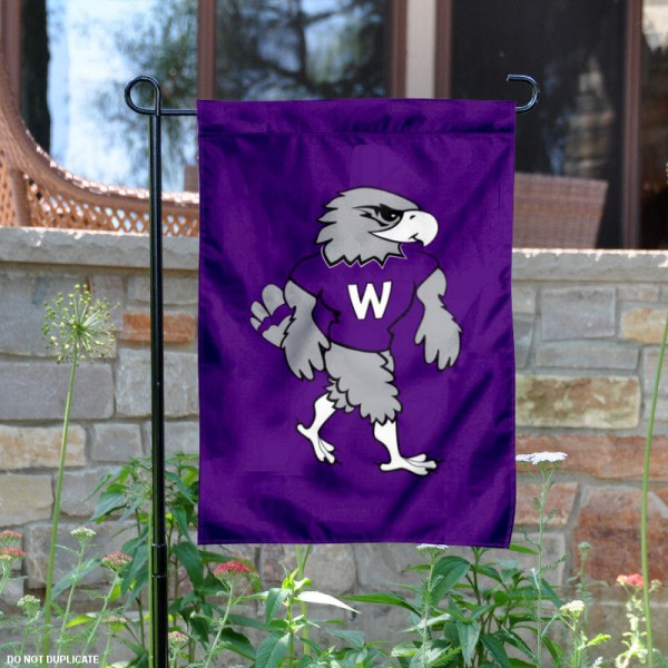 UW Whitewater Willie Warhawk Garden Flag