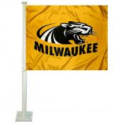 UWM Panthers Car Flag