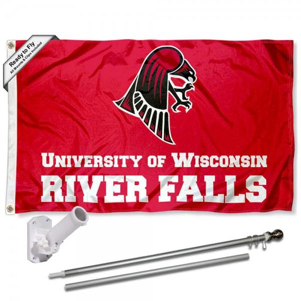 UWRF Falcons Flag and Bracket Flagpole Kit