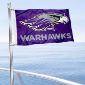 UWW Warhawks Boat Nautical Flag