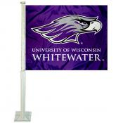 UWW Warhawks Logo Car Flag