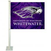 UWW Warhawks Logo Car Flag