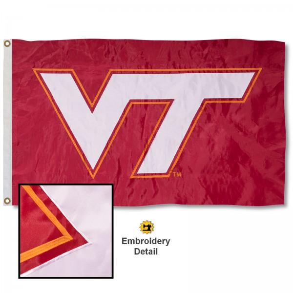 VA Tech Hokies Appliqued Nylon Flag