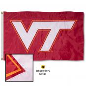 VA Tech Hokies Appliqued Nylon Flag