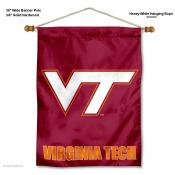 VA Tech Hokies Banner with Pole