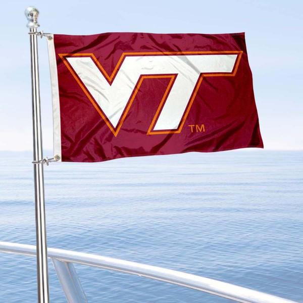 VA Tech Hokies Boat Nautical Flag